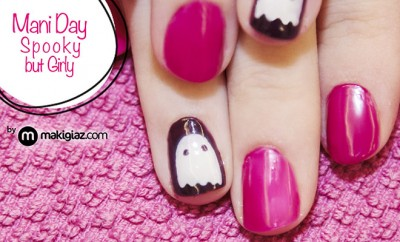 Mani Day - Spooky but Girly - Makigiaz Com