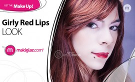 Get the Makeup - Girly Red Lips by Makigiaz Com - Μακιγιάζ