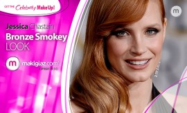 Get the Celebrity Makeup - Jessica Chanstains' Bronze Smokey - Makigiaz Com