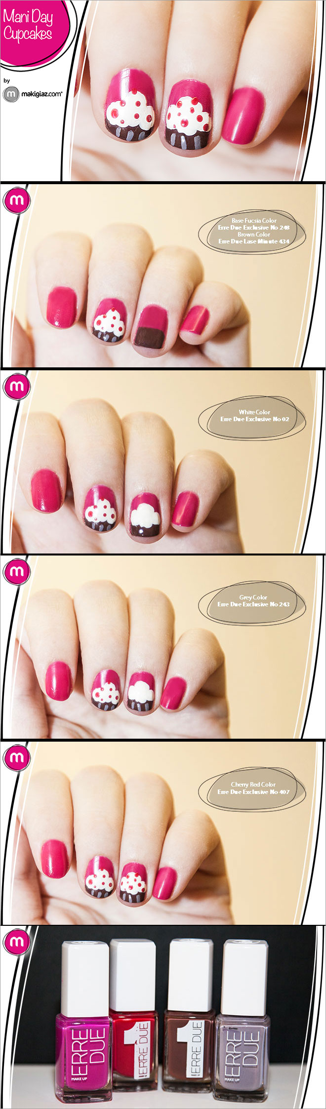 Mani Day - Cupcakes με Erre Due - Makigiaz Com